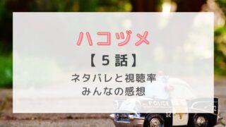 ハコヅメ5話感想やネタバレあらすじ!合コンで運命の恋の訪れに川合、どうなる!?