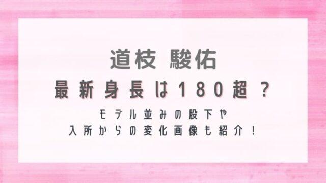最新|道枝駿佑の身長は180超?モデル並みの股下や入所からの変化画像も紹介!